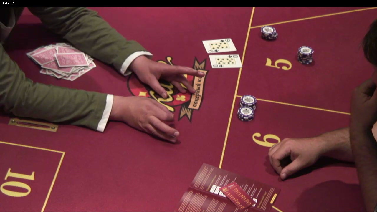 AXIS Q1755, игровой стол в одном из казино,  формат - 1280x720
